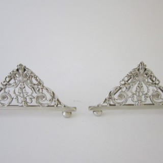 Antique Victorian Sterling Silver Menu/Place Card Holders