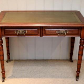 Victorian Walnut Writing Desk