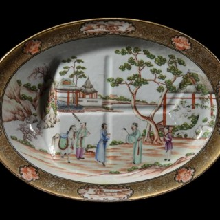 Chinese 18th century 'Rockefeller' part-service (28 pieces)