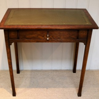 Small Proportioned Edwardian Oak Writing Desk