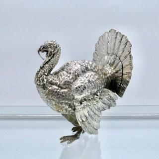 Antique George V Sterling Silver Turkey London 1913 Berthold Muller