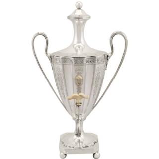 Sterling Silver Coffee Urn - Antique George III (1786)