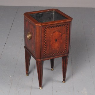 Antique Dutch Small Inlaid Mahogany Jardiniere