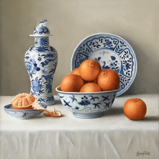 Mandarins in a Chinese Bowl