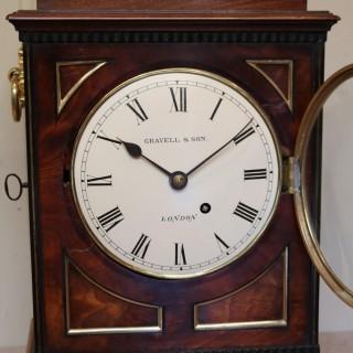 Small  Mahogany Chamfer Top Bracket Clock