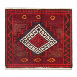 Handmade Persian Lori Rug, Small Vintage Wool Area Rug- 60x56cm