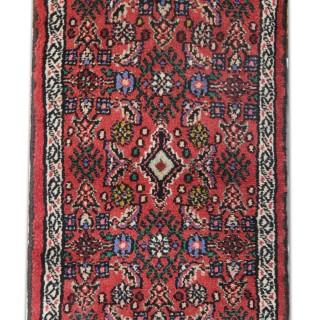 Handmade Oriental Persian Rug, Hamadan Wool Area Rug- 60x90cm