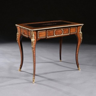 French 19th Century Gilt-Bronze Mounted Writing Table Of Fine Quality