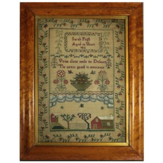 Antique Scottish Sampler, 1812, by Sarah Pugh Aged 12
