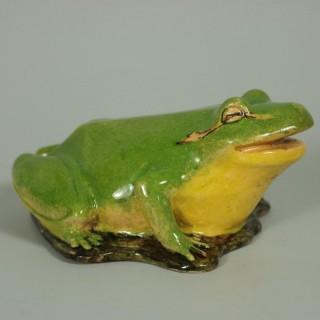 Clement Massier Frog Figure