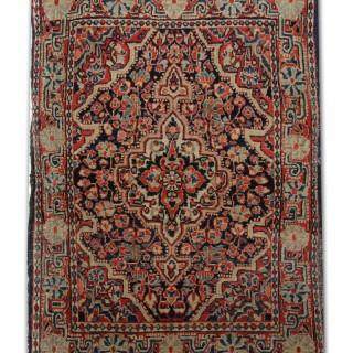 Small Handmade Vintage Persian Rug, Traditional Wool Carpet Mat-61x73cm