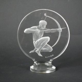 Rene Lalique Clear Glass 'Archer' Mascot