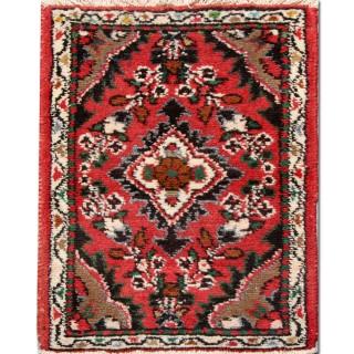 Small Oriental Wool Rug, Persian Hamadan Vintage Rug- 40x60cm