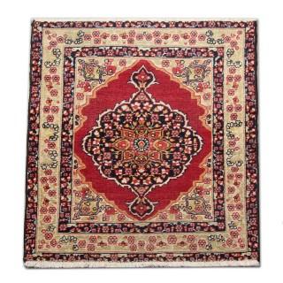 Handmade Kerman Rug, Small Persian Wool Pile Carpet Rug- 62x79cm