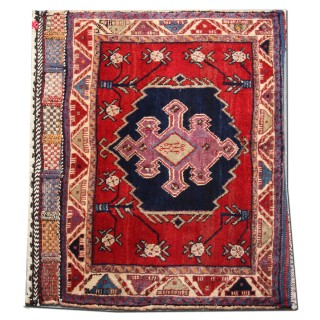Vintage Handmade Persian Rug, Small Wool Lori Carpet Rug- 66x85cm