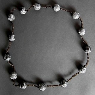 Rene Lalique Black Glass 'Entrelacs' Necklace