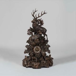 A Large Black Forest Mantle Clock