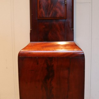 19th Century Mahogany Grandmother Clock
