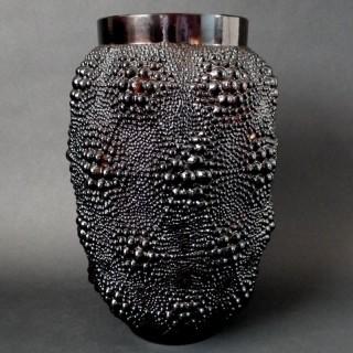 René Lalique Bronze Coloured Glass 'Davos' Vase