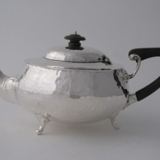Arts & Crafts Sterling Silver Teapot - 1921