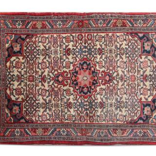 Handwoven Oriental Persian Rug, Traditional Sarouk Carpet Mat- 62x103cm