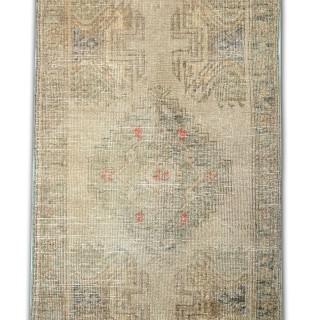 Small Worn Antique Wool Oriental Wool Rug- 56x109cm