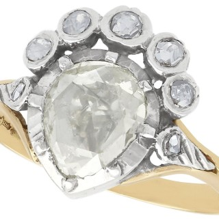 1.59 ct Diamond and 14 ct Yellow Gold Dress Ring - Antique and Vintage Dutch