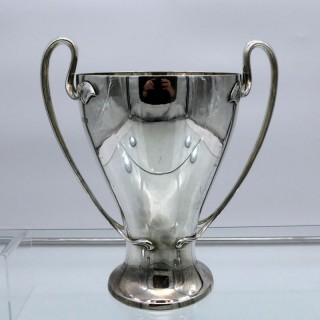 Antique Edwardian Sterling Silver Cup London 1908 Barnard Family