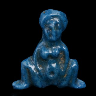 Egyptian Faience Amulet of Goddess Baubo