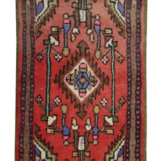 Small Handwoven wool Persian Hamadan Rug- 38x67cm
