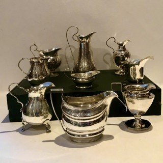 Selection of Silver Jugs.