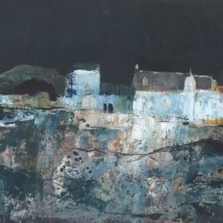 Evening in a French Village by Gordon Wyllie RSW