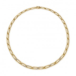 Cartier 18ct yellow gold and diamond link necklace