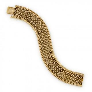 Georges Lenfant 18ct yellow gold woven bracelet