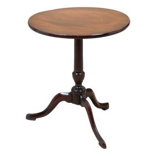 Georgian 18th Century Mahogany Miniature Tripod Table