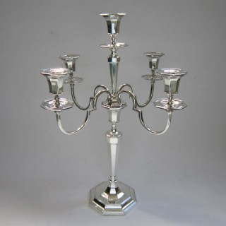 Antique George V Sterling Silver Candelabrum - 1925