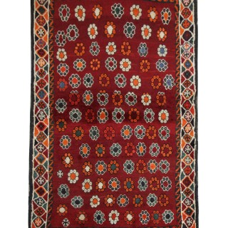 Handwoven Persian Lori Village Rug 1930-  Floral pattern Wool Rug- 96x157cm