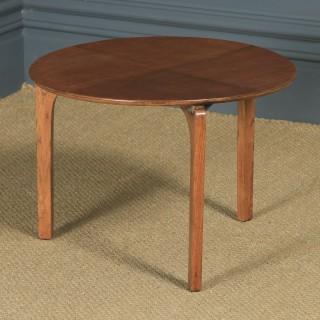 Vintage English Circular Oak Coffee Table by Herbert E. Gibbs (Circa 1940)