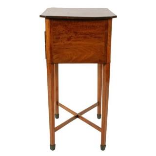 Georgian Mahogany Two Drawer Lamp Table