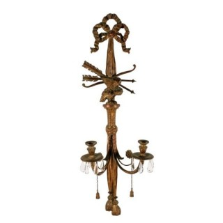 Large Carved Giltwood Wall Sconce