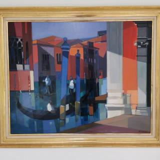 Le Grand Canal à Sant 'Angelo, Venezia  by Camille Hilaire (1916 – 2004)
