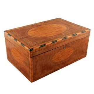 Mahogany and Satinwood Deed Box