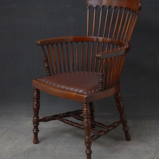 Victorian Desk Chair in Mahogany