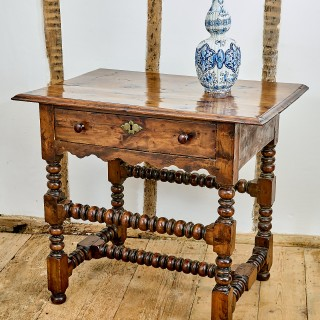 Charles II yew wood table