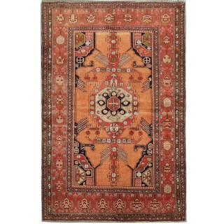 Handmade Oriental Caucasian Rug Shirvan Tribal Wool Rug- 128x188cm