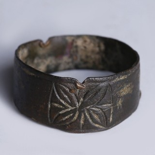 Medieval Ring with Engraved Floral Motif
