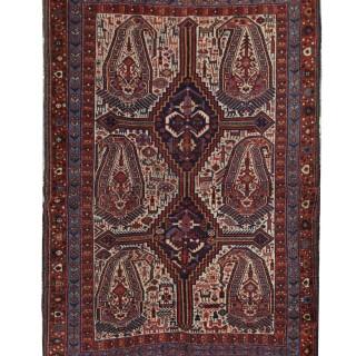 Handmade Oriental Persian Carpet Rug. Unique Wool Motif Area Rug- 115x160cm