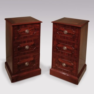 Pair of George III period mahogany Diningroom Pedestal Cupboards