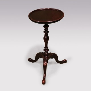 A Mid 18th Century Mahogany Kettle Stand or Tripod Table