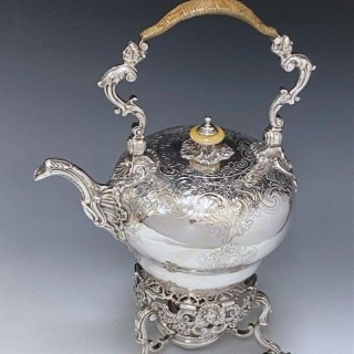 Antique Silver George II Kettle & Stand made in 1739-40